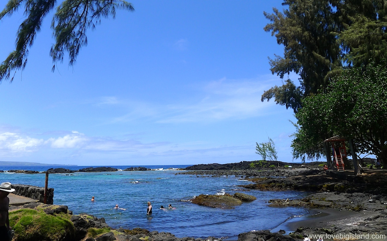 Swim & Snorkel at a Neighborhood Black Sand Beach.